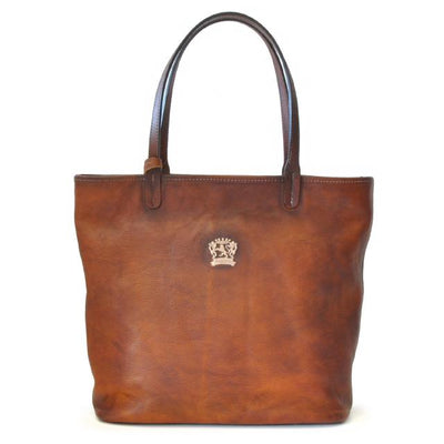 Pratesi Womens Italian Leather Monterchi Large Shoulder Tote Bag Handbags in Cow Leather