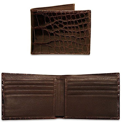Jack Georges American Alligator Classic Wallet AL701 (BROWN)