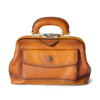 Pratesi Doctor lady bag 562/P in cow leather - Bruce Cognac