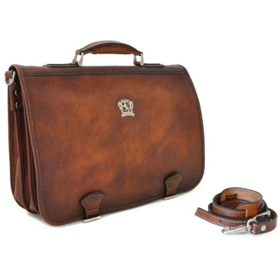 059a967691 Pratesi Mens Italian Leather Bruce Secchieta Business Messenger Bag In Cow  Leather ...