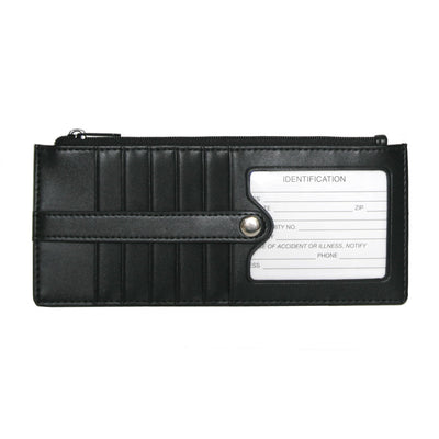 ROYCE Womens Credit Card Wallet in Genuine Leather in Black