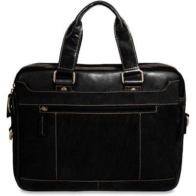 Jack Georges Voyager Collection Double Entry Top Zip Briefcase