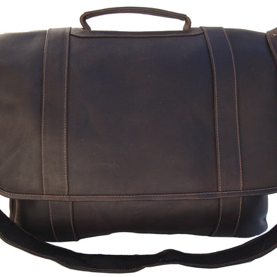 Piel Leather Traditional Flap laptop Portfolio, Briefcase