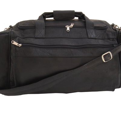Piel Leather Large Duffel Bag in Black