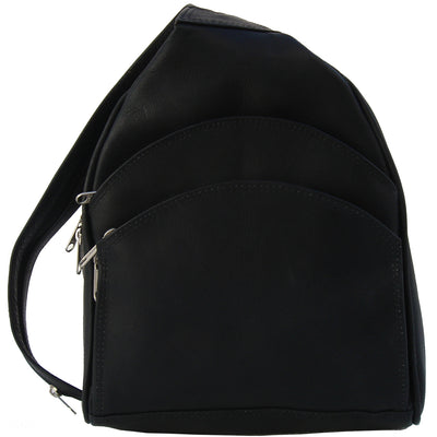 Piel Leather Three Pocket Sling Bag