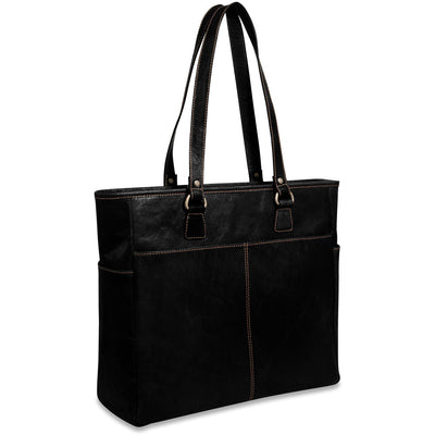 Jack Georges Voyager Collection Leather Large Tote