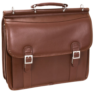 "McKlein Mens HALSTED 15.6"" Double Compartment Laptop Case"
