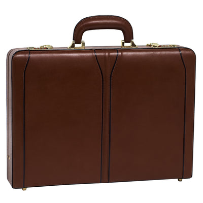 McKlein Mens LAWSON Leather Attache Case