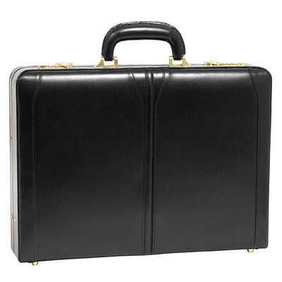 "[Custom] McKleinUSA Lawson Leather 3.5"" Attache Briefcase in Black"