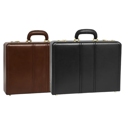 McKlein Mens COUGHLIN Leather Expandable Attache Case