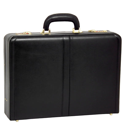 "[Custom] McKleinUSA Harper Leather 4.5"" Expandable Attache Briefcase in Black"