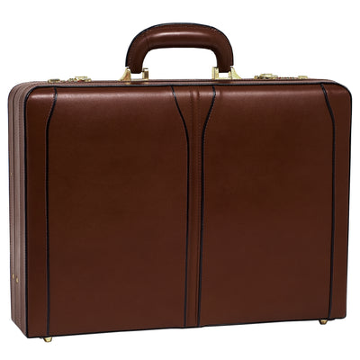 McKlein Mens TURNER Leather Expandable Attache Case