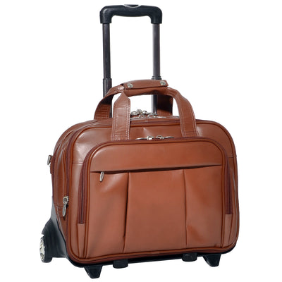 "McKlein Mens DAMEN 17"" Detachable-Wheeled Laptop Case"