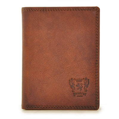 Pratesi Mens Italian Leather Bruce Galleria Corsini Bruce Vertical Bifold Front Pocket Wallet