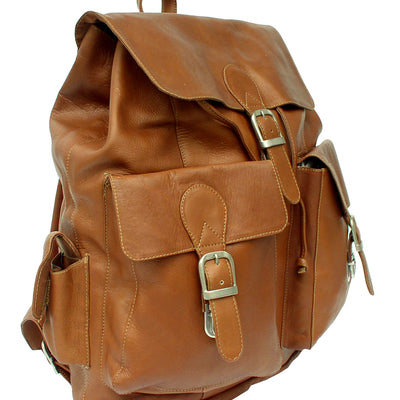 Piel Leather Adventurer Large Buckle Flap Backpack
