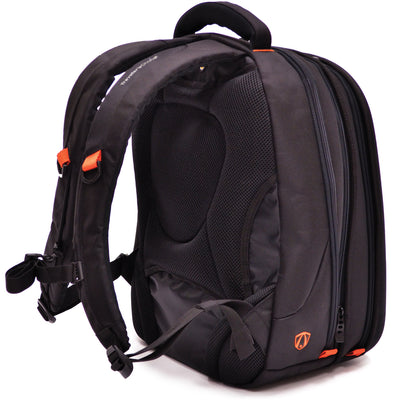 Traveler's Choice Unisex-Adult Compression-Molded EVA Expandable Laptop Backpack in Black