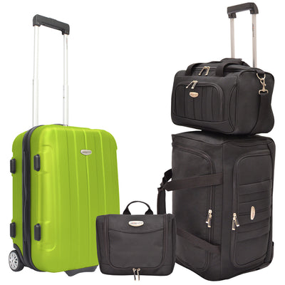 Traveler's Choice Unisex-Adult Rome 4-Piece Carry-On Luggage Set