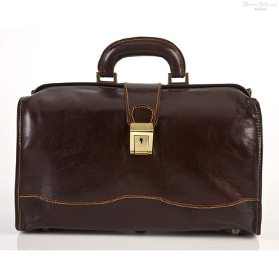 Alberto Bellucci Italian Leather Giotto Classic Doctor Top Handle Hand Bag