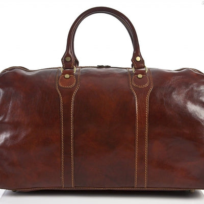Alberto Bellucci Italian Leather Amato Carry-on Traveler Duffel Bag