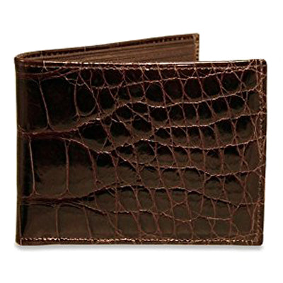 Jack Georges American Alligator Classic Bifold Wallet Black