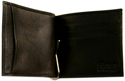 Floto Mens Leather Bill Clip Wallet