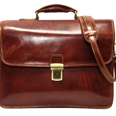 Floto Leather Cortona Laptop Briefcase