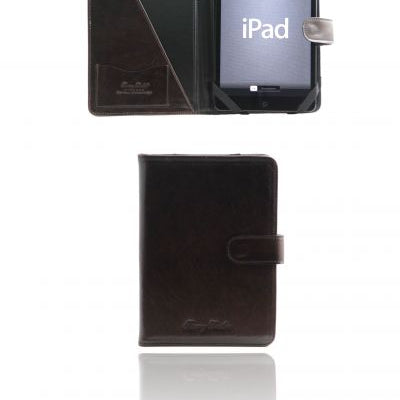 Tuscany Leather Leather iPad Mini case with snap button