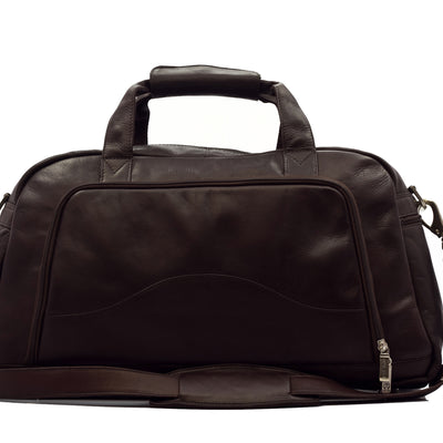 "Muiska Leather Luis 19"" Carry On Weekender Sports Gym Duffle, Brown"