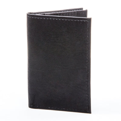Muiska - Colombian Leather Business and Credit Card Case Wallet in Black
