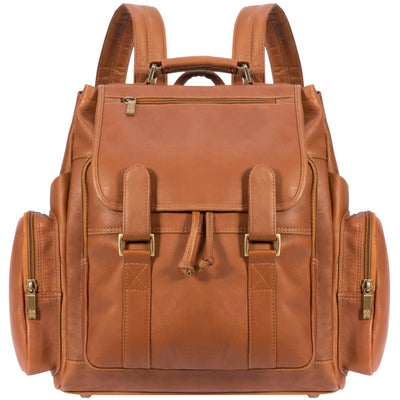 "Muiska Leather Brooklyn Classic Drawstring 17"" Laptop Backpack"