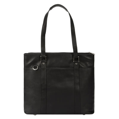 "Muiska Leather Taipei 15.4"" Laptop Business Tote Shoulder Briefcase, Black"