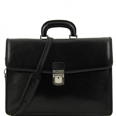 Tuscany Leather Amalfi -  Single compartment Leather briefcase