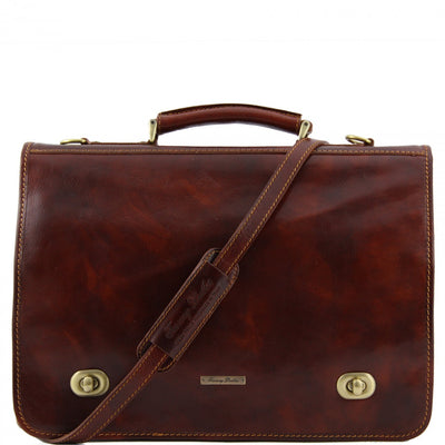 Tuscany Leather Siena - Leather messenger bag