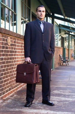 Tony Perotti Bella Russo Triple Compartment Laptop Briefcase