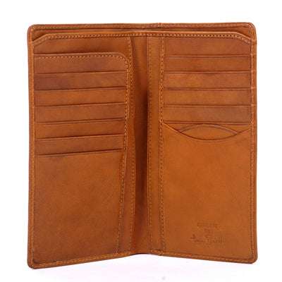 Tony Perotti Bifold Italian Leather Checkbook Breast Pocket Wallet