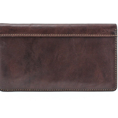 Tony Perotti Bifold Leather Combination Checkbook Wallet with ID