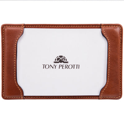 Tony Perotti Italian Leather Express Pocket Memo Pad Writing Jotter in Cognac