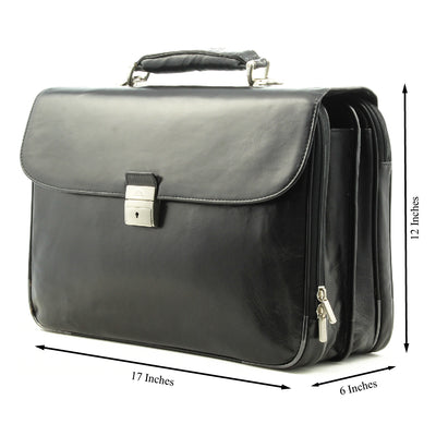Tony Perotti Roberto Four-Compartment Expandable Laptop Briefcase