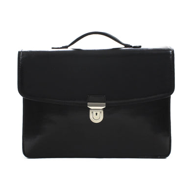 Tony Perotti Alfero Single Compartment Document Briefcase in Black