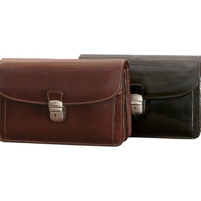 Tony Perotti Italian Leather Horizontal Compact Mini Briefcase