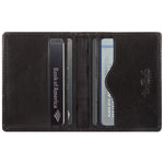Tony Perotti Italian Leather Thin Bifold Credit Card Holder Wallet in Black