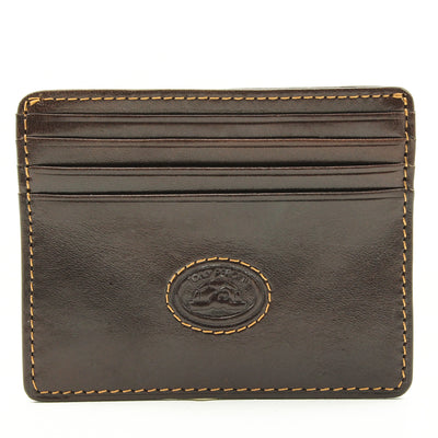 Tony Perotti Italian Leather Thin Weekender Credit Card Holder Wallet