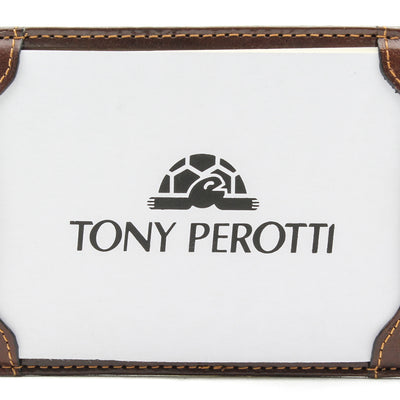 Tony Perotti Italian Leather Express Pocket Memo Pad Writing Jotter in Brown