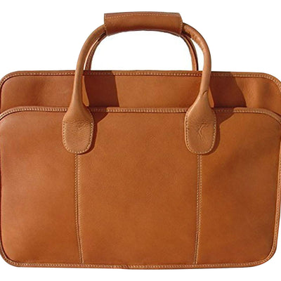 Piel Leather Simple Portfolio, Briefcase in Saddle