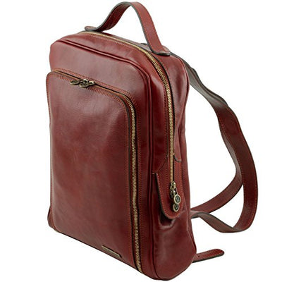 Tuscany Leather Bangkok - Leather laptop backpack Dark Brown Leather Backpacks