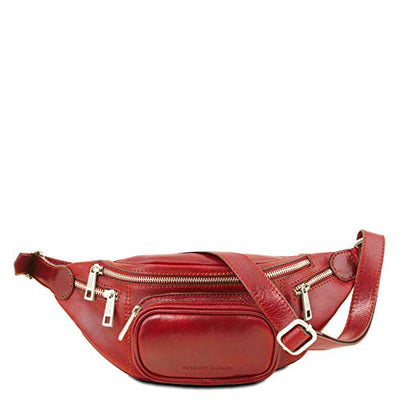 Tuscany Leather Leather Fanny Pack Red Leather bags for men