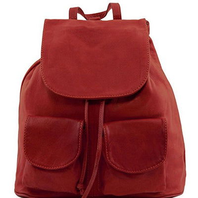 Tuscany Leather Seoul - Leather backpack Small size - TL141508 (Red)