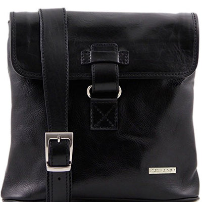 Tuscany Leather Andrea - Leather Crossbody Bag, Black