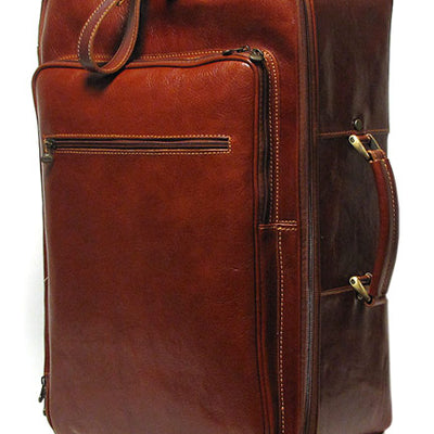Floto Unisex Venezia Trolley Wheeled Luggage in Brown