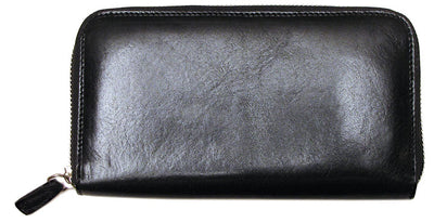 Floto Unisex Venezia Zip Wallet in Black